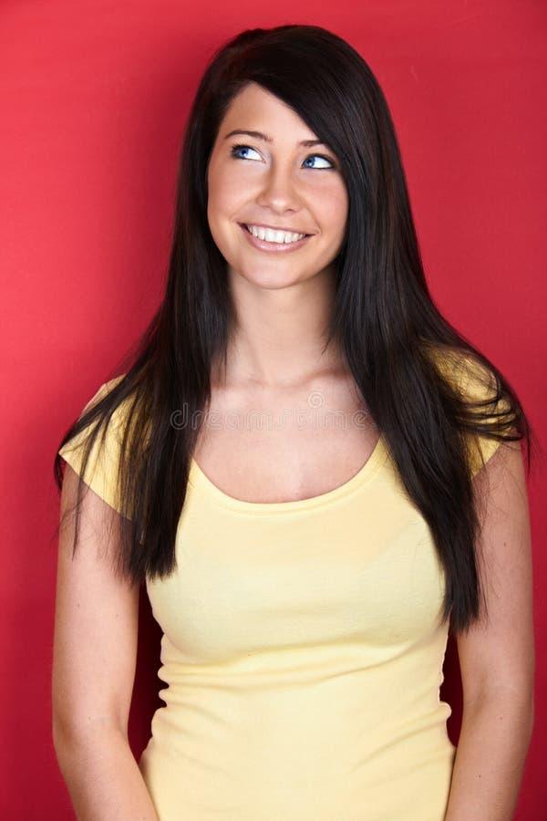 Mulher de sorriso nova fotos de stock