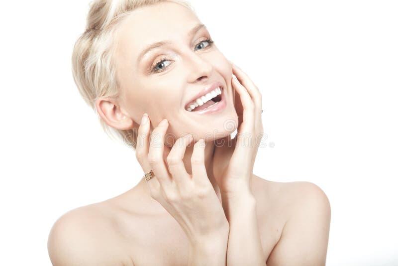 Mulher de sorriso nova bonita. fotografia de stock