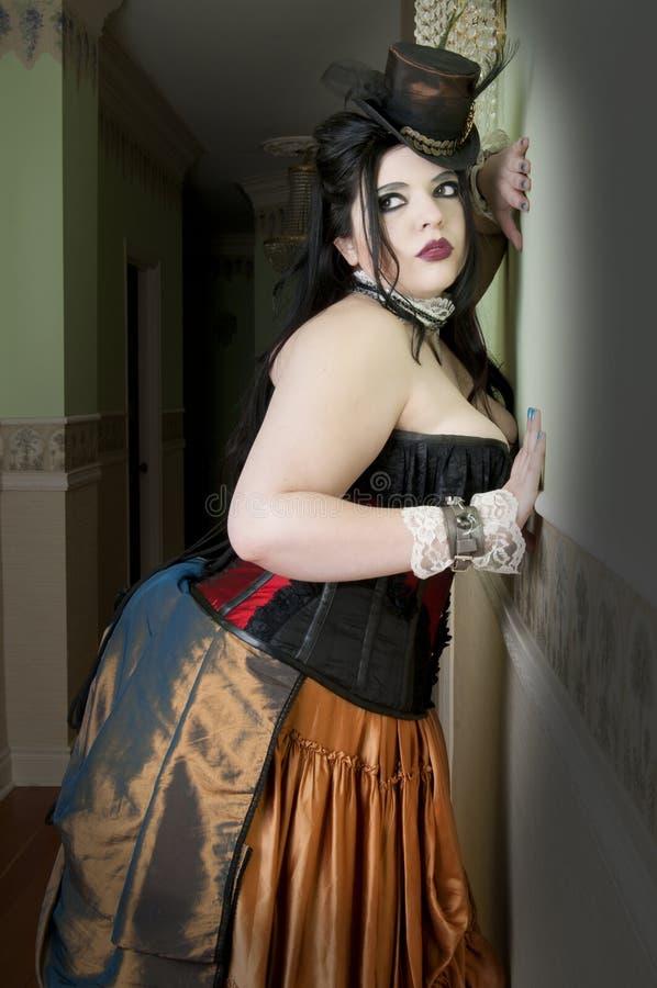 Mulher de Steampunk imagem de stock royalty free
