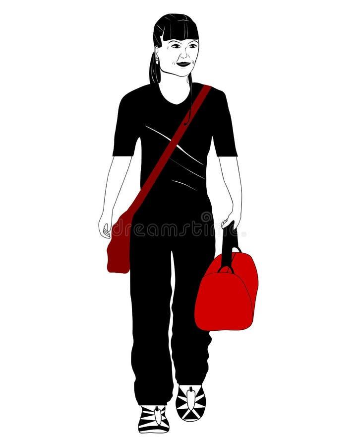Mulher de viagem ilustração stock