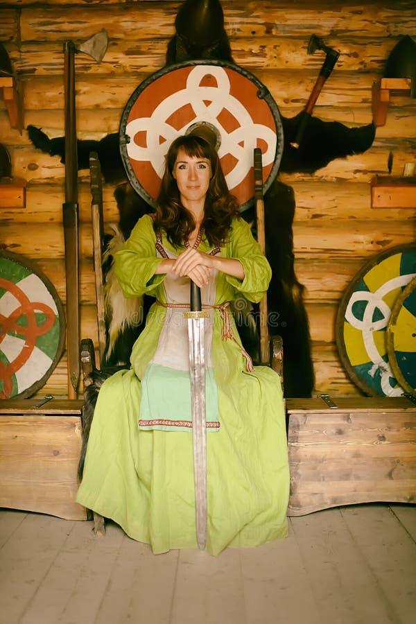 Mulher de Viking foto de stock
