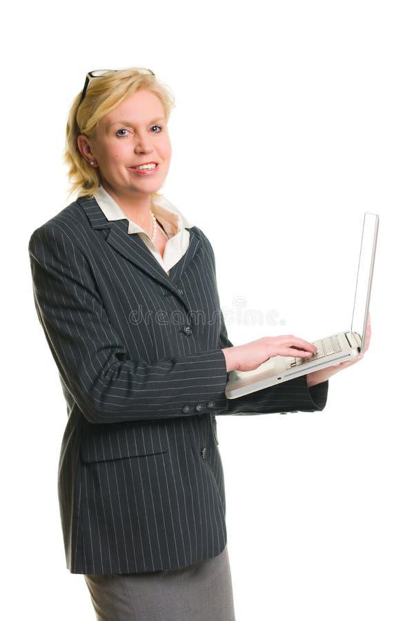 A mulher demonstra fotografia de stock royalty free
