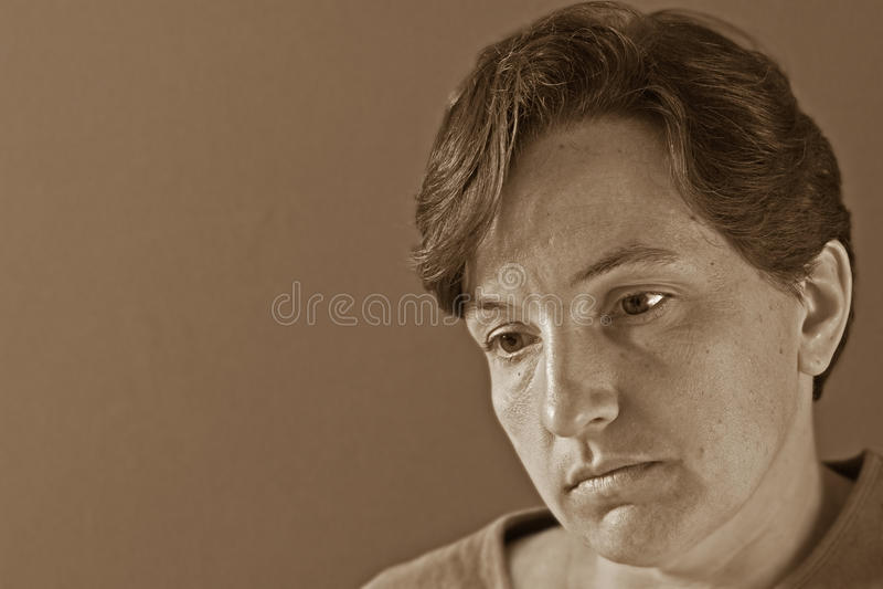 Mulher deprimida, triste imagens de stock