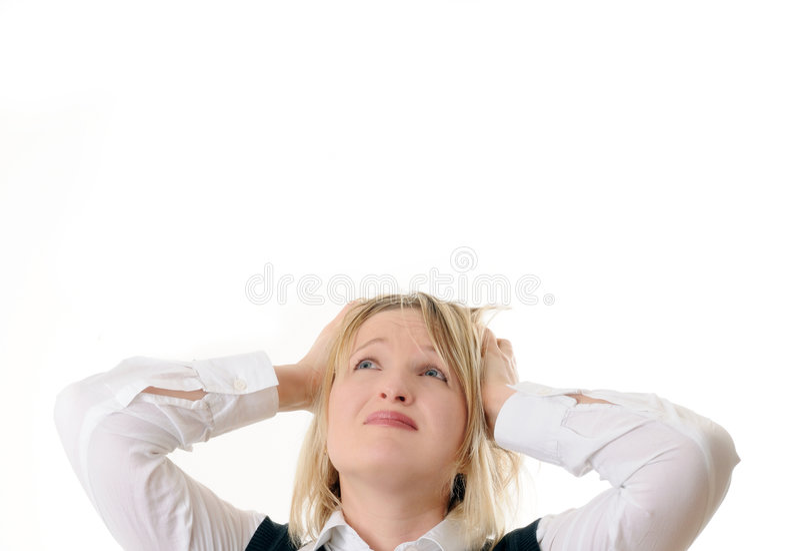 Mulher desesperada imagens de stock