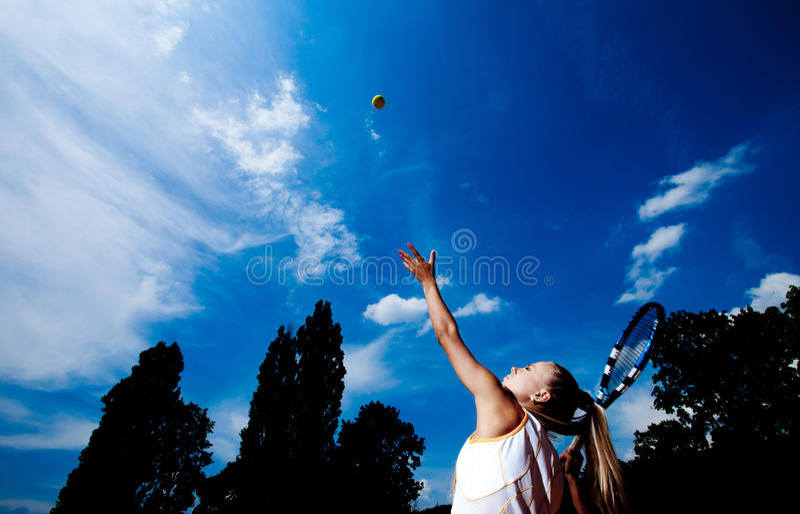 Mulher desportiva fotografia de stock