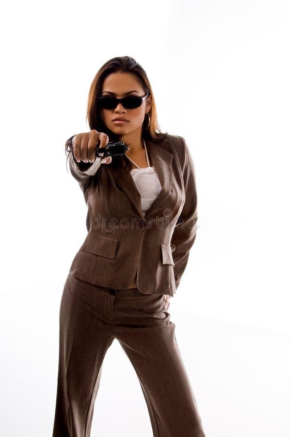 Mulher do agente secreto fotos de stock