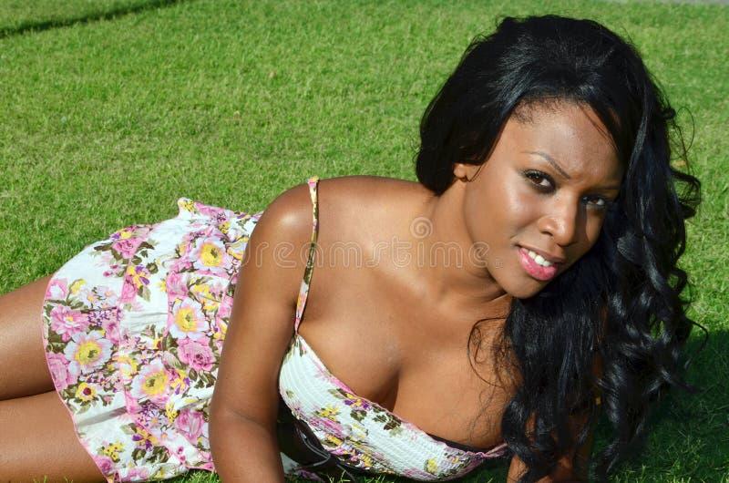 Mulher do americano africano imagem de stock royalty free