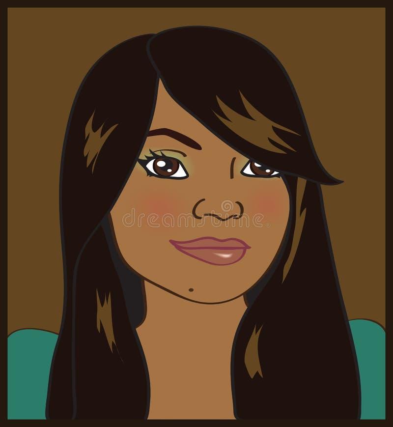 Mulher do americano africano ilustração stock