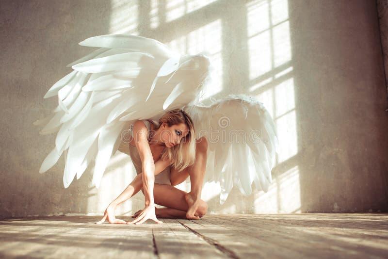 Mulher do anjo fotografia de stock royalty free