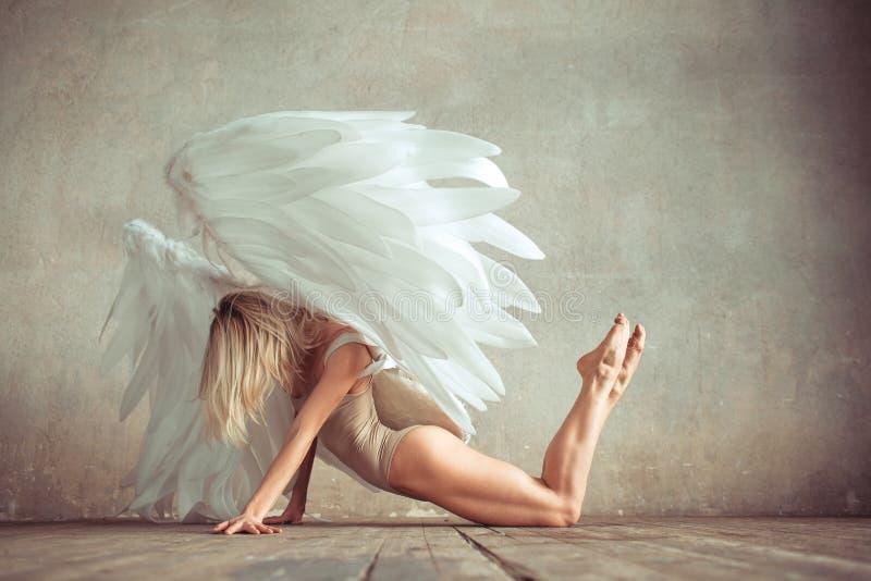 Mulher do anjo fotos de stock
