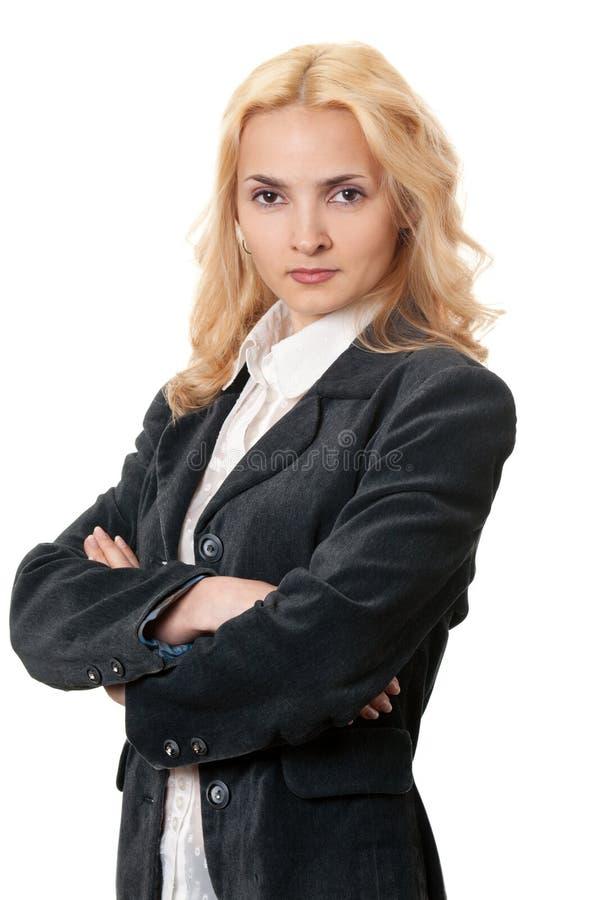 Mulher do blonde do negócio imagem de stock