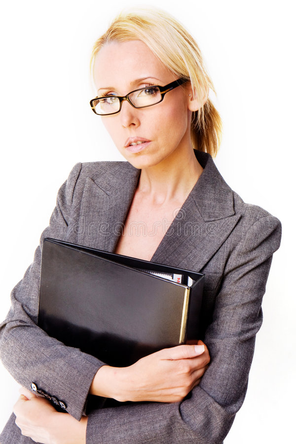 Mulher do blonde do negócio fotografia de stock