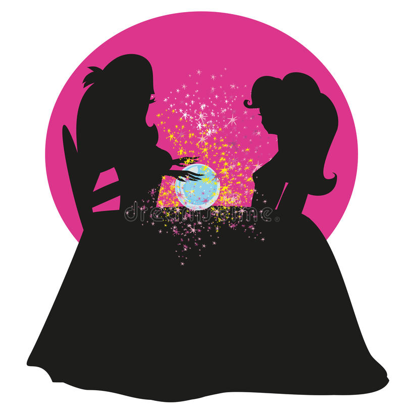 Mulher do caixa de fortuna ilustração royalty free