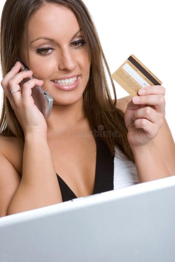 Mulher do cartão de crédito fotos de stock