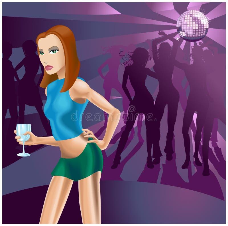 Mulher do clube nocturno ilustração do vetor