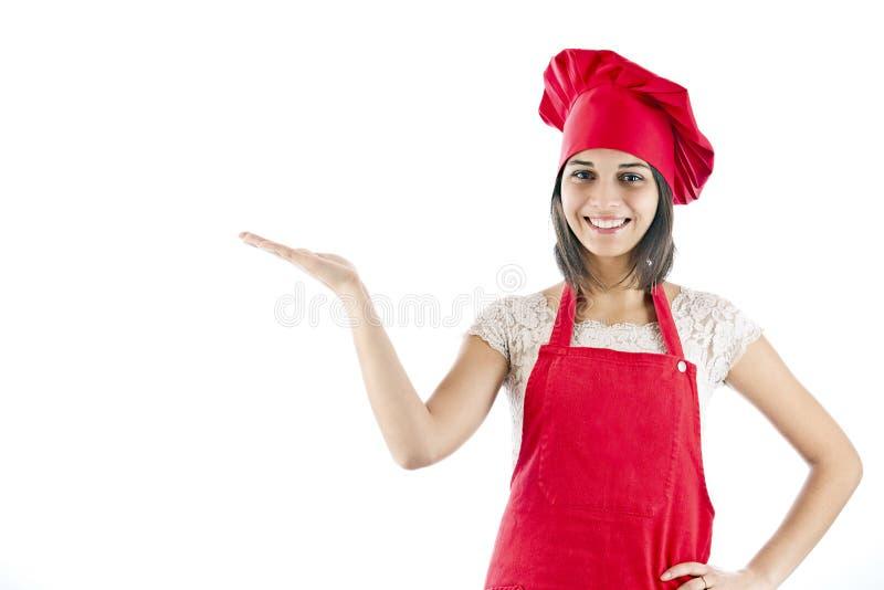 Mulher do cozinheiro chefe foto de stock royalty free