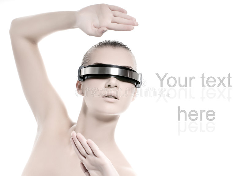Mulher do Cyber foto de stock