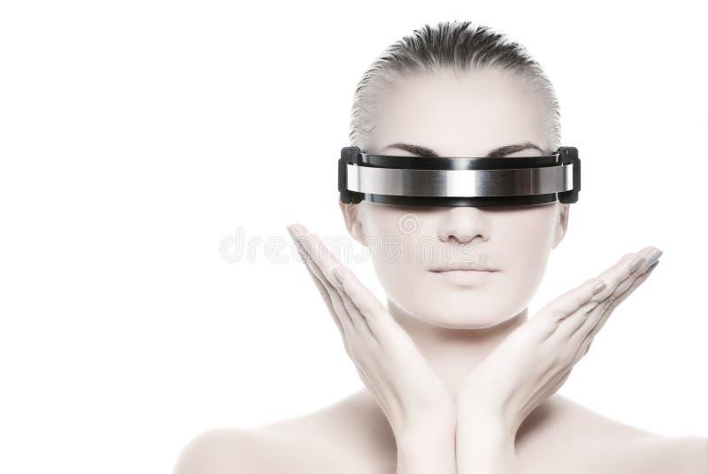 Mulher do Cyber imagem de stock