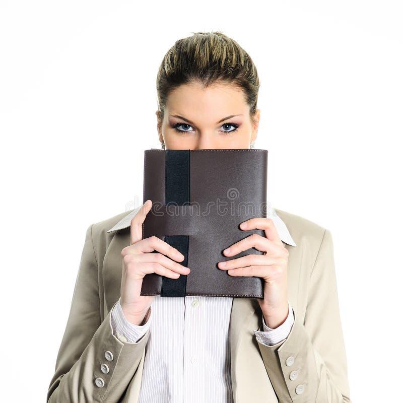 Mulher do diário do negócio imagens de stock royalty free