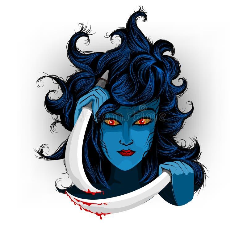 Mulher do diabo ilustração stock