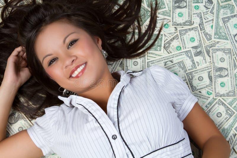 Mulher do dinheiro imagens de stock