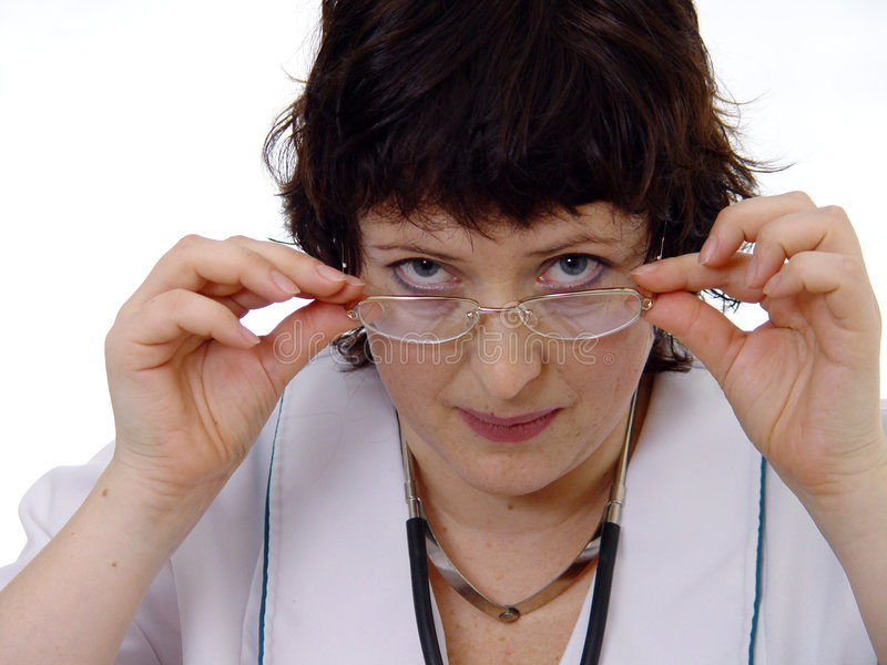 Mulher do doutor foto de stock