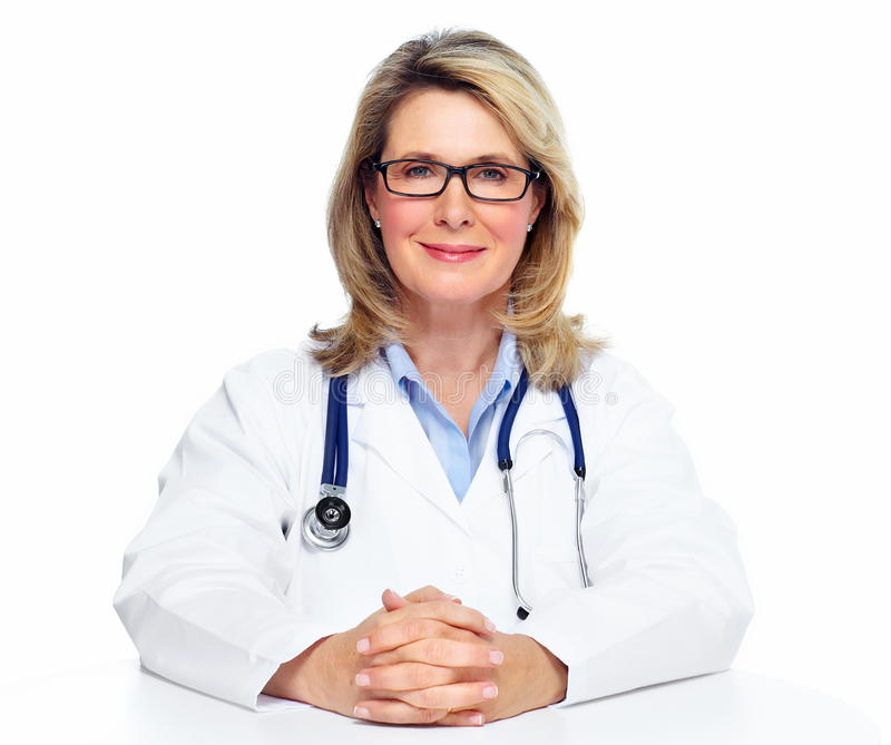 Mulher do doutor. fotografia de stock