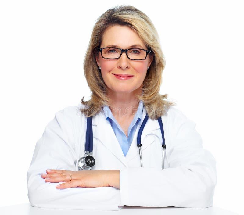 Mulher do doutor. imagens de stock