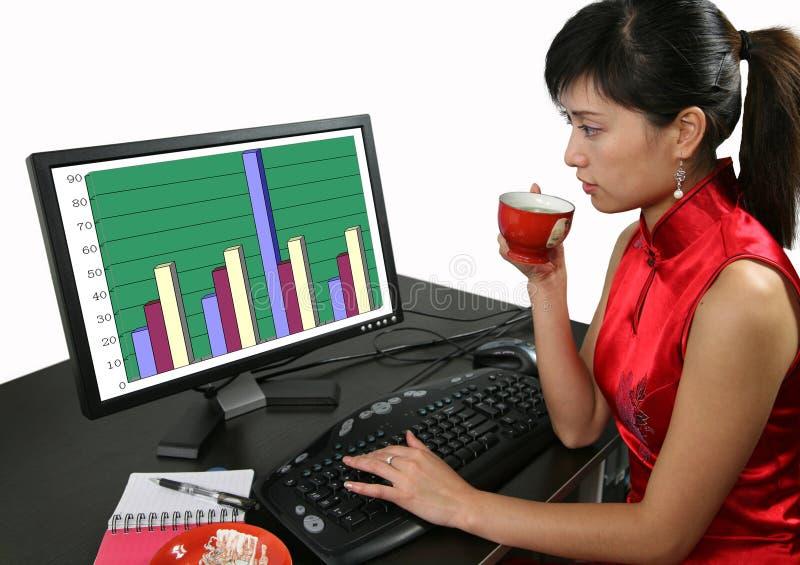 Mulher do escritório foto de stock royalty free