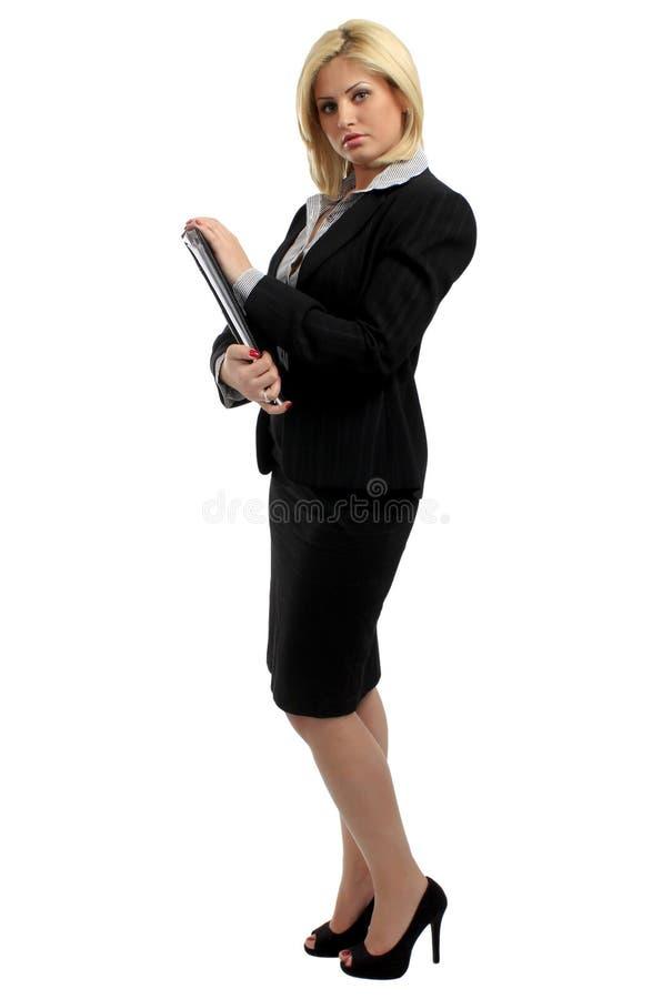 Mulher do escritório isolada imagens de stock royalty free