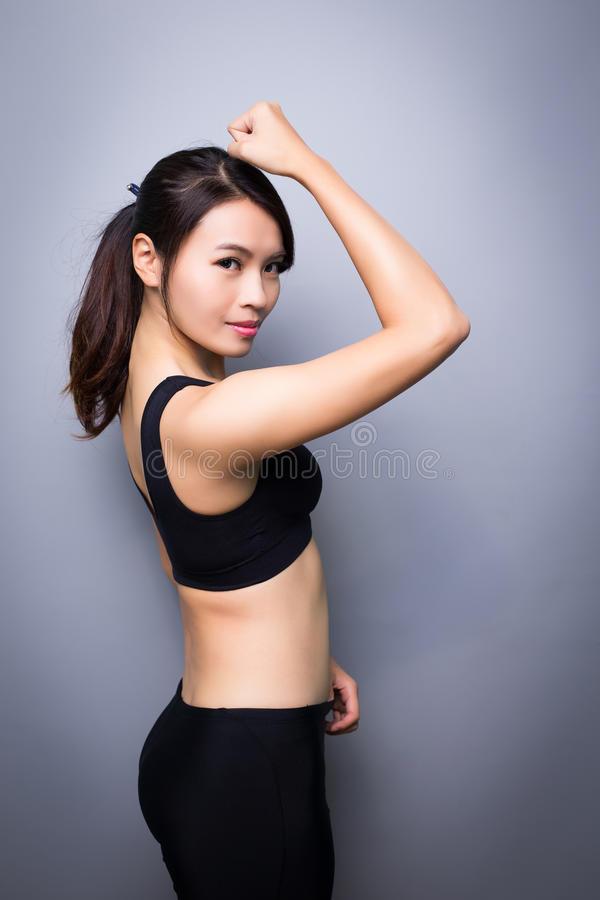 Mulher do esporte da beleza fotos de stock royalty free
