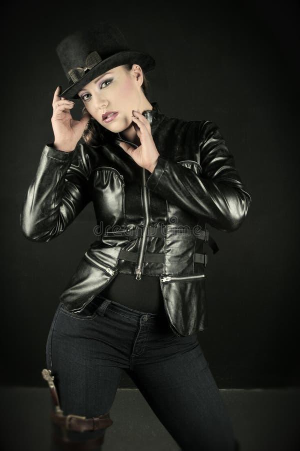 Mulher do estilo de Steampunk imagem de stock