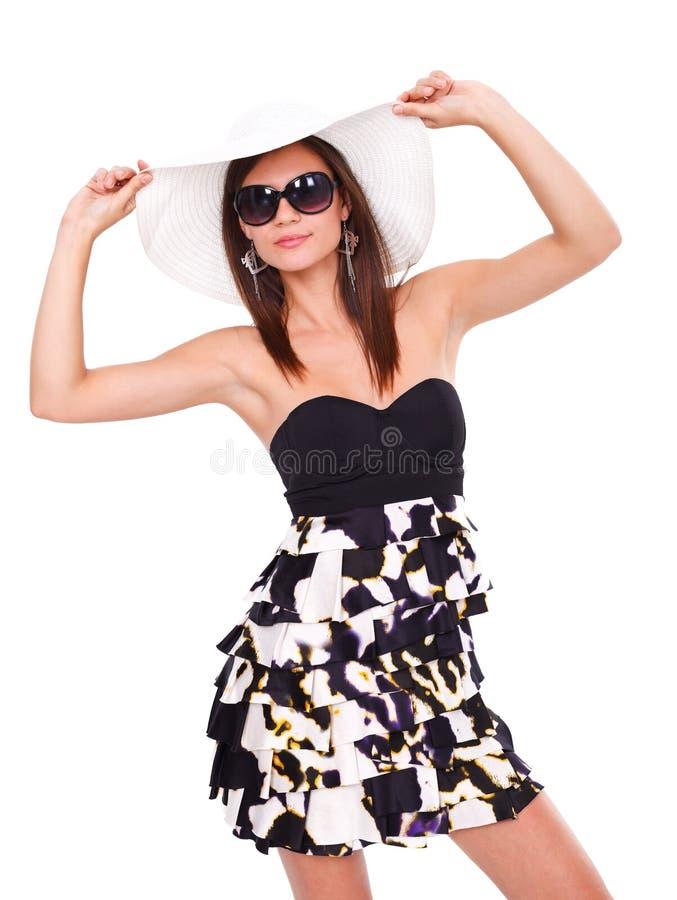 Mulher do estilo do verão imagem de stock