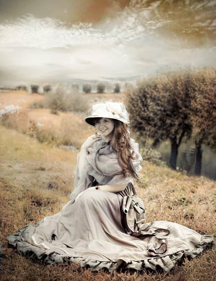 Mulher do estilo do Victorian imagens de stock royalty free