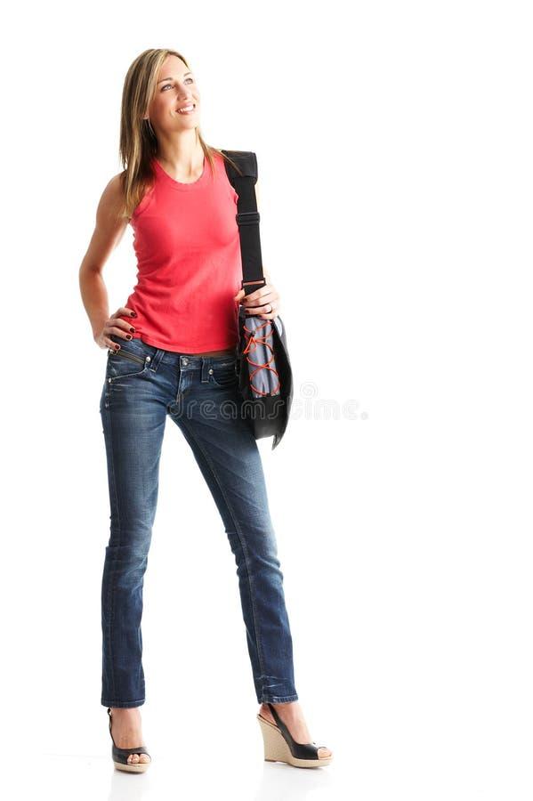 Mulher do estudante fotografia de stock