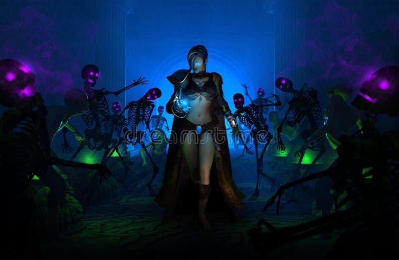 Mulher do feiticeiro ilustração royalty free