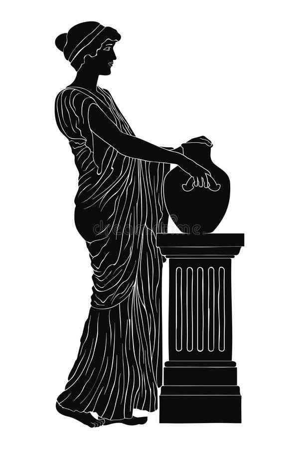 Mulher do grego cl?ssico ilustração do vetor