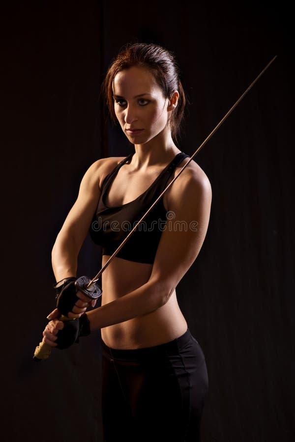 Mulher do guerreiro fotos de stock royalty free