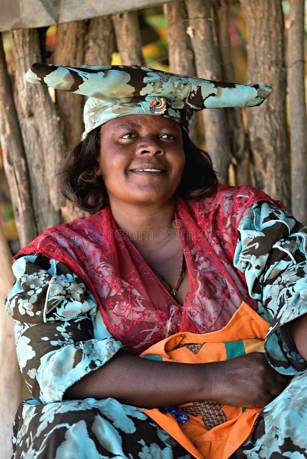 Mulher do Herero, Namíbia imagens de stock royalty free