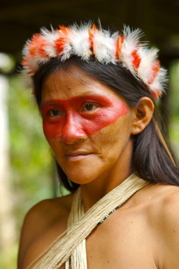 Mulher do Indian de Amazon fotografia de stock