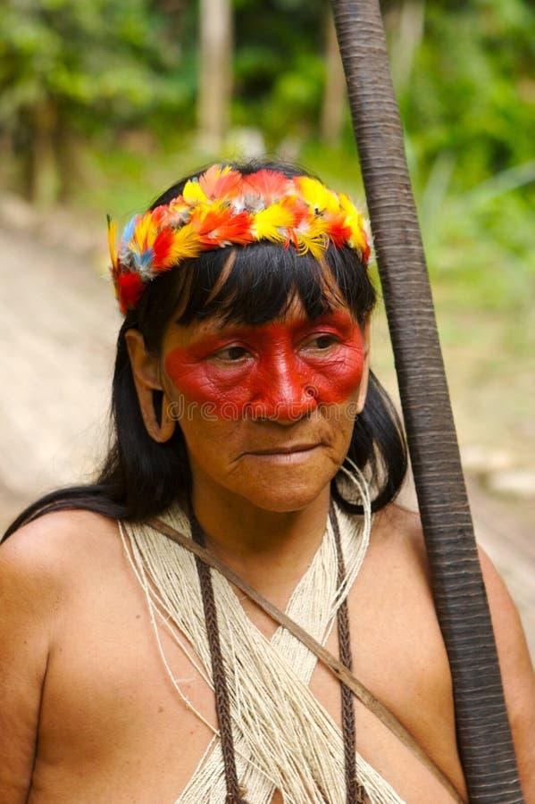 Mulher do Indian de Amazon foto de stock