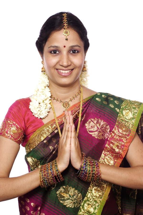 Mulher do Indian de Tradional imagem de stock