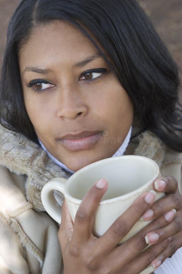 Mulher do inverno fotos de stock royalty free