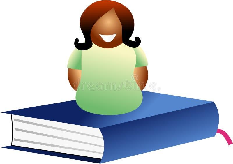Mulher do livro ilustração do vetor