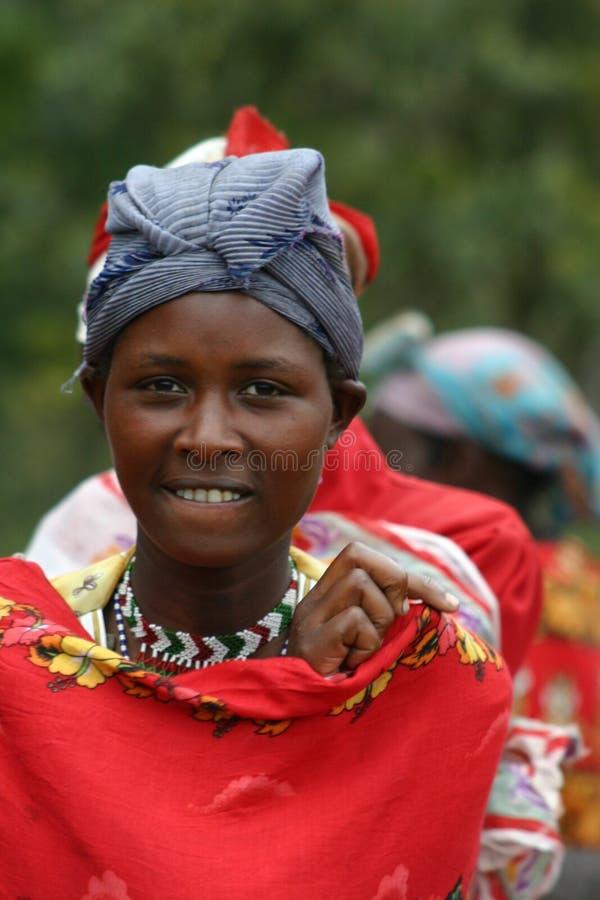 Mulher do Masai foto de stock
