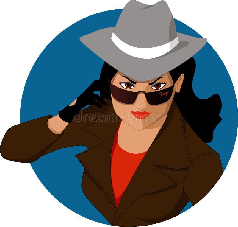 Mulher do mistério ilustração stock