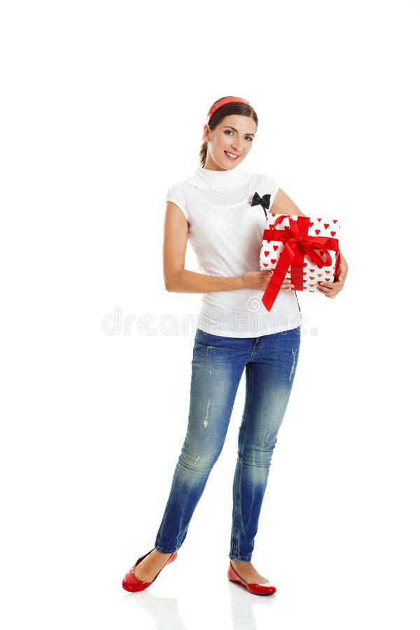 Download Mulher do Natal foto de stock. Imagem de expressive, fêmea - 12805678