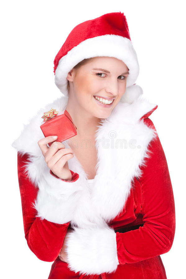 Download Mulher do Natal imagem de stock. Imagem de fresco, face - 16866437