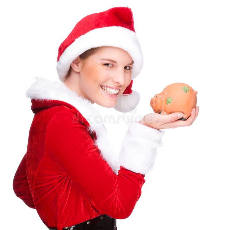 Download Mulher do Natal foto de stock. Imagem de afortunado, fundo - 16866442