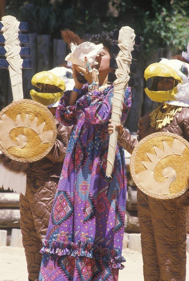 Mulher do nativo americano fotografia de stock